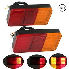 2 X LED 12V Rücklicht Rückleuchten PKW-Anhänger Wohnwagen Leuchte Blinklicht E11