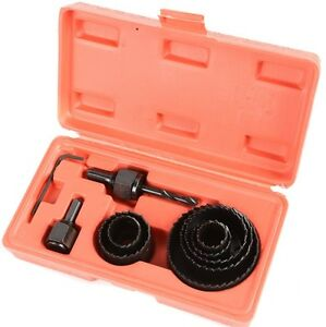 Hole Saw Kit 11pc GRIP Sizes 22mm,25mm,29mm,38mm,44mm,51mm,64mm