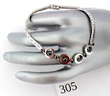 Weiß Gold Armband  585 14K mit Saphir 19 cm