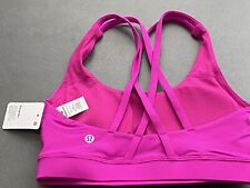 NWT LULULEMON HIPU Pink LTWT Luxtreme Fabric B/C Cup All Sport Energy Bra 6