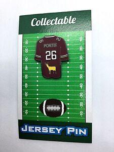 Washington Redskins Clinton Portis jersey lapel pin-Collectable..aka CHOO-CHOO