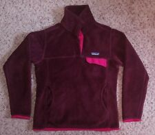 Patagonia Synchilla Womens Retool Snap T Fleece Pullover Red S