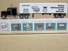 """Peterbilt Container-Sattelzug """"Siemens"""", mit OVP mit Werbeeinlage, Wiking, 1:87"""