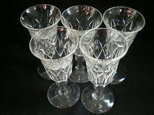5 X VICTORIAN EDWARDIAN 8.8cm LIQUEUR GLASSES - CHRISTMAS! [96]