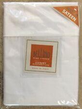 Bellino Fine Italian Linens White Standard Pillowcases Sateen Cotton Set 2