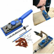 25pcs Pocket Hole Drill Jig System Woodworking Joinery Drilling Guide Tool Bits