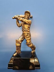 "Cricket Batsman Figure Winner Trophy Award Free Engraving Resin 9"""