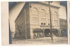 RPPC Sallada Block, Store JERSEY SHORE PA Pennsylvania Real Photo Postcard