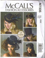 Steampunk Gothic Victorian Top Hats Aviation Costume Millinery Sewing Pattern