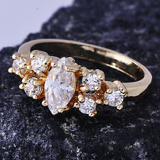Clear Cubic Zirconia Yellow Gold Filled Womens Ring Size 5 Free Shipping