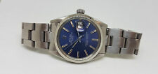 RARE VINTAGE ROLEX OYSTER PERPETUAL DATE BLUE DIAL 1570 MAN'S WATCH