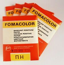 """Paper Photographic COLOR VINTAGE """"FOMACOLOR""""  25 sheets 9x12cm glossy (5 pack)"""