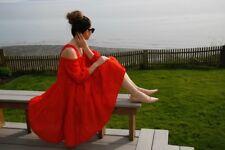 H&M RED OFF-SHOULDER DRESS SIZE 38 UK 12