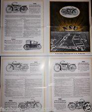 NSU MOTORRÄDER 1924  PROSPEKT 2 PS GETRIEBE MOTORRAD VORKRIEG OLDTIMER SAMMLER