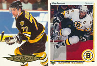 Ray Bourque Lot of 2 different Boston Bruins Hockey Cards