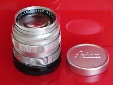 "Leica M 50mm f:1.4 E43 chrome Summilux lens with caps, #2072xxx NICE ""LQQK"""