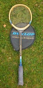 "Vintage Dunlop ""Jonah Barrington "" Wooden Squash Racket. For Display Only."
