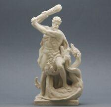 Greek semi God Hercules & Lernaean Hydra Cast Marble Statue Sculpture Figurine 8