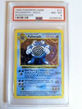 1999 Pokemon Game #13 POLIWRATH Holo SHADOWLESS graded PSA 8 NM-MT Rare
