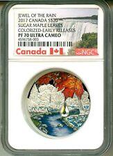2017 S$20 Canada Jewel Of The Rain Sugar Maple Leaves Swarovski ER NGC PF70 UC