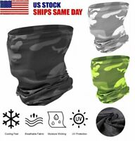 Cooling Face Scarf Sun Shield Neck Gaiter Headband Balaclava Neckerchief Bandana
