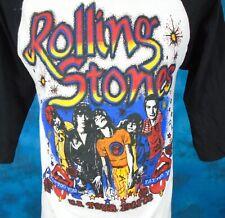 vintage 80s Rolling Stones Concert Jersey T-Shirt Small/Medium rock raglan tour