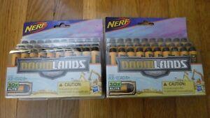 60 NERF Doomlands 2169 Dart Refill two 30 count Packs Elite Hasbro orange black