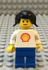 LEGO Classic Town Girl Female Shell Gas Station Worker Attendent with Pigtails