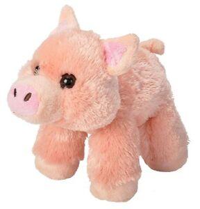 "HUG'EMS MINI PIG PLUSH SOFT TOY 7"" STUFFED ANIMAL BY WILD REPUBLIC - BNWT"