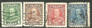 Canada 217-220 George V Pictorial issue  (211)