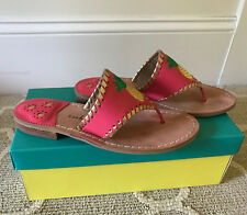 Jack Rogers Bright Pink Pineapple Sandals Size 6