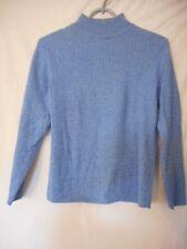 Karen Scott Petites Size M Blue mock turtleneck Sweater