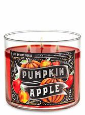 Bath & Body Works Pumpkin Apple 3 Wick Candle NEW