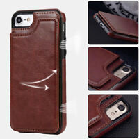 Men Magnetic Leather Wallet Flip Phone Cover Case Card Slot for IPhone Samsung