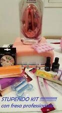 Kit Ricostruzione Unghie Nail Art Fresa Lampada Senza Gel UV Manicure Decorazion