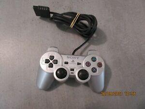 manette ps2 / gris silver / officielle SONY / sans caoutchoucs joysticks