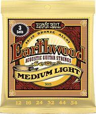 Ernie Ball Earthwood Medium Light 80/20 Bronze Sets, .012 - .054 (3 Pack) - 3003