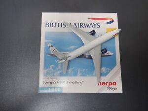 Herpa Wings 1:500 Boeing 777-200 Hong Kong 506465 GZZZ-C EXC #851