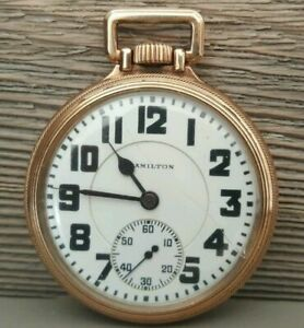 HAMILTON 992 RAILROAD POCKET WATCH 1927