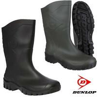 New Mens Ladies Dunlop DEE WIDE CALF Wellingtons Wellies Ankle Rain Mucker Boots