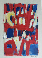 Gérard BRIOT  acrylique sur carton 16 x11 cm   O-19-22