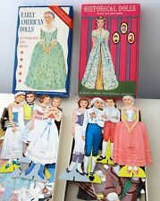 PLATT MUNK 2 BOXES HISTORICAL & EARLY AMERICAN PAPER CUT OUT 8 DOLLS CLOTHES