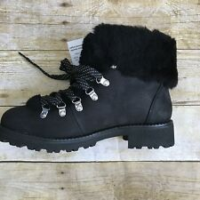 J Crew Woman's Black Winter Boots With Shearling #F8444 Size 9-M