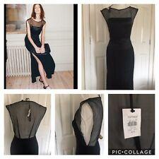 Topshop Unique Uk 6/34 100% Silk Evening Dress New Sheer Back Open 2 Offers 😍
