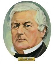 Vtg President Millard Fillmore Die Cut Face Paper Wall Decoration New Old Stock