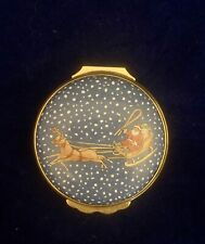 "Halcyon Days Enamels ""Christmas 1986"" Trinket Box Handpainted"