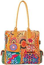 Geblümte Damentaschen aus Canvas/Segeltuch mit Reißverschluss