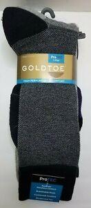 Gold Toe Men's Dress Socks ProTec High Performance  3  Pair Pack New