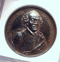 1740 GREAT BRITAIN England WILLIAM SHAKESPEARE 4.2Cm Antique Medal NGC i81267