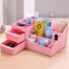 Blue/Pink Cosmetic Makeup Display Organizer Plastic Drawers Case Jewelry Box